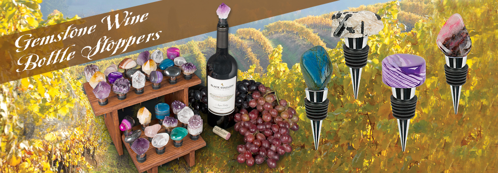 Gemstone Wine Bottle Stoppers for a little class - Squire Boone Village