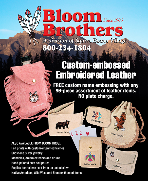 Custom Embroidered Leather Ad