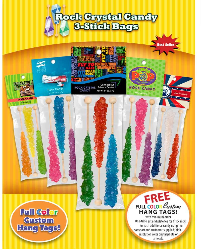 Rock Crystal Candy 3-Stick Bags Ad