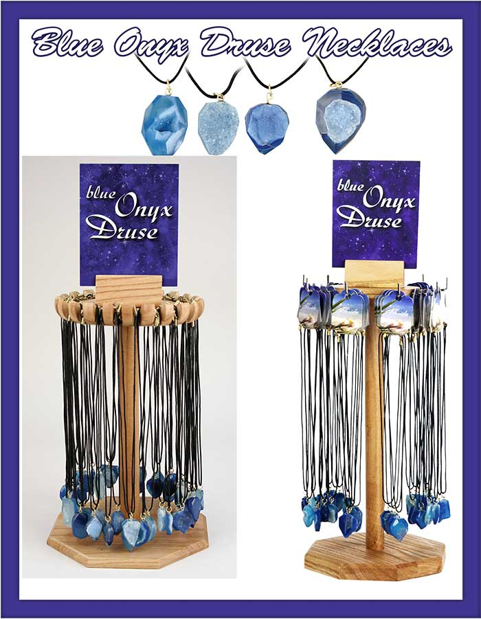 Blue Onyx Druse Necklaces Ad