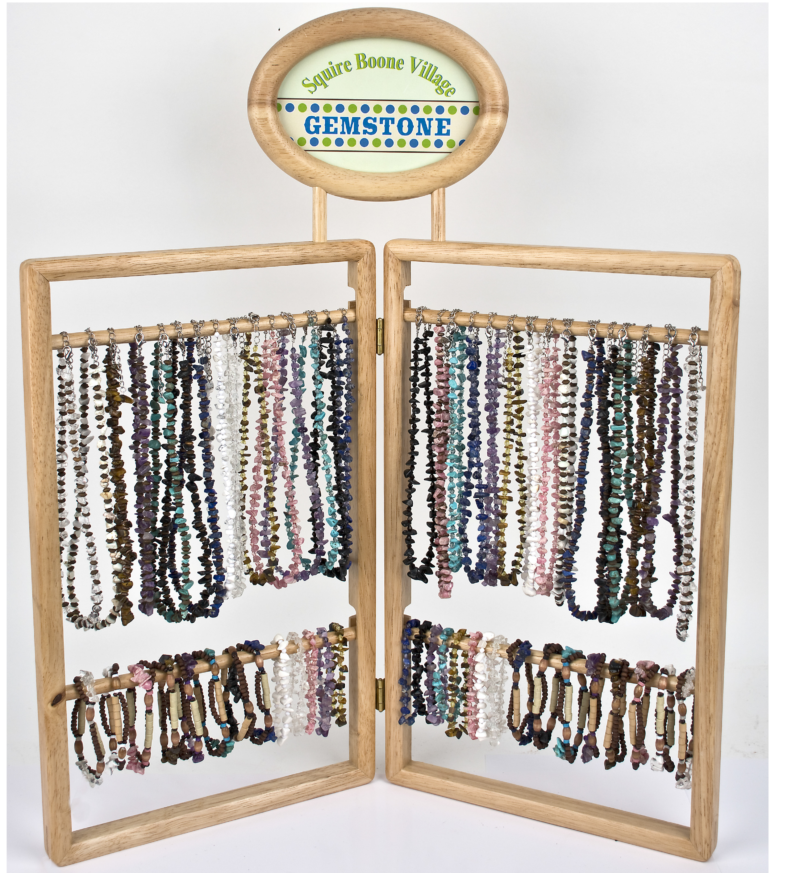 Gemstone & Wood & Crystal Window Display Ad