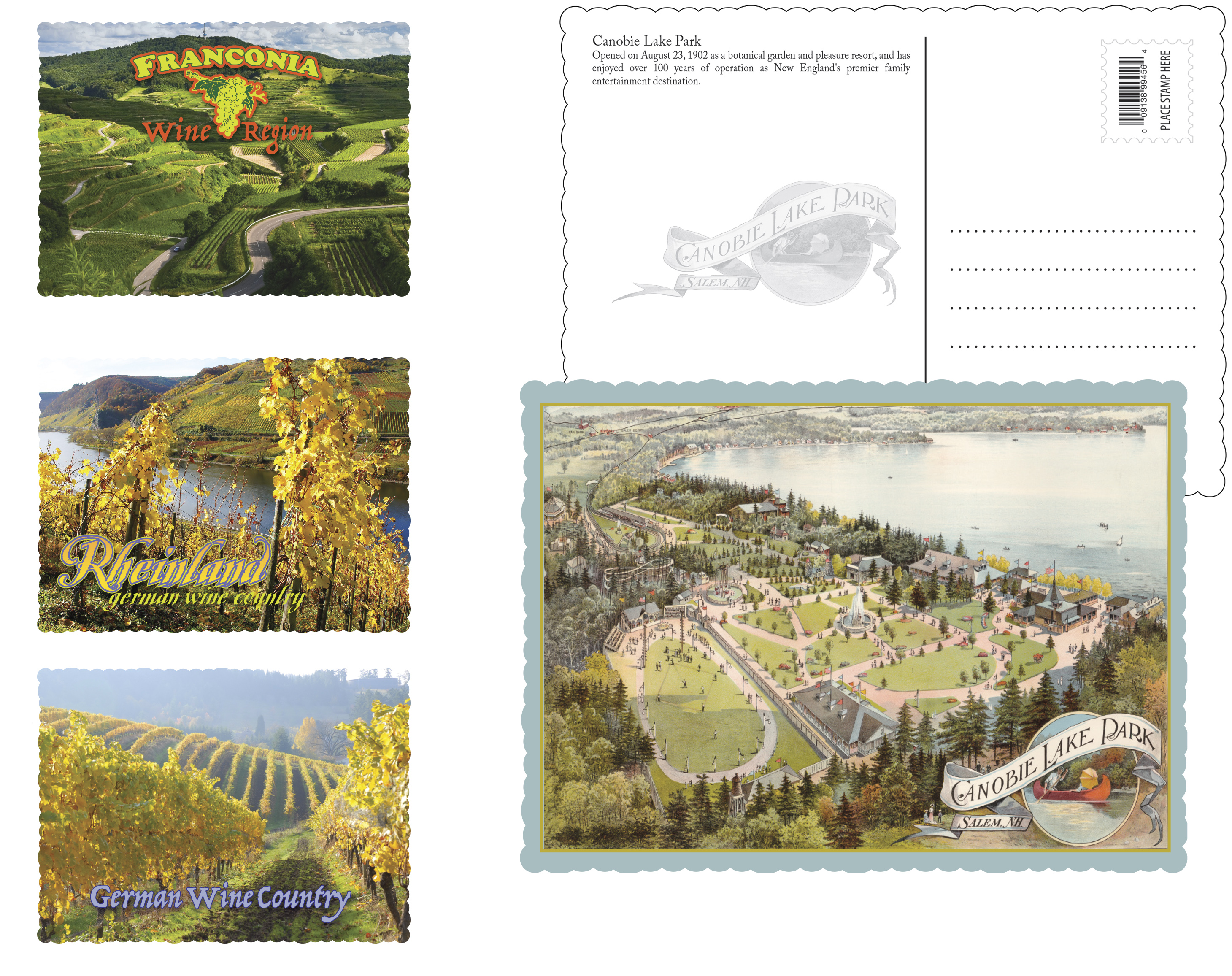 Custom Souvenir Picture Postcards Ad