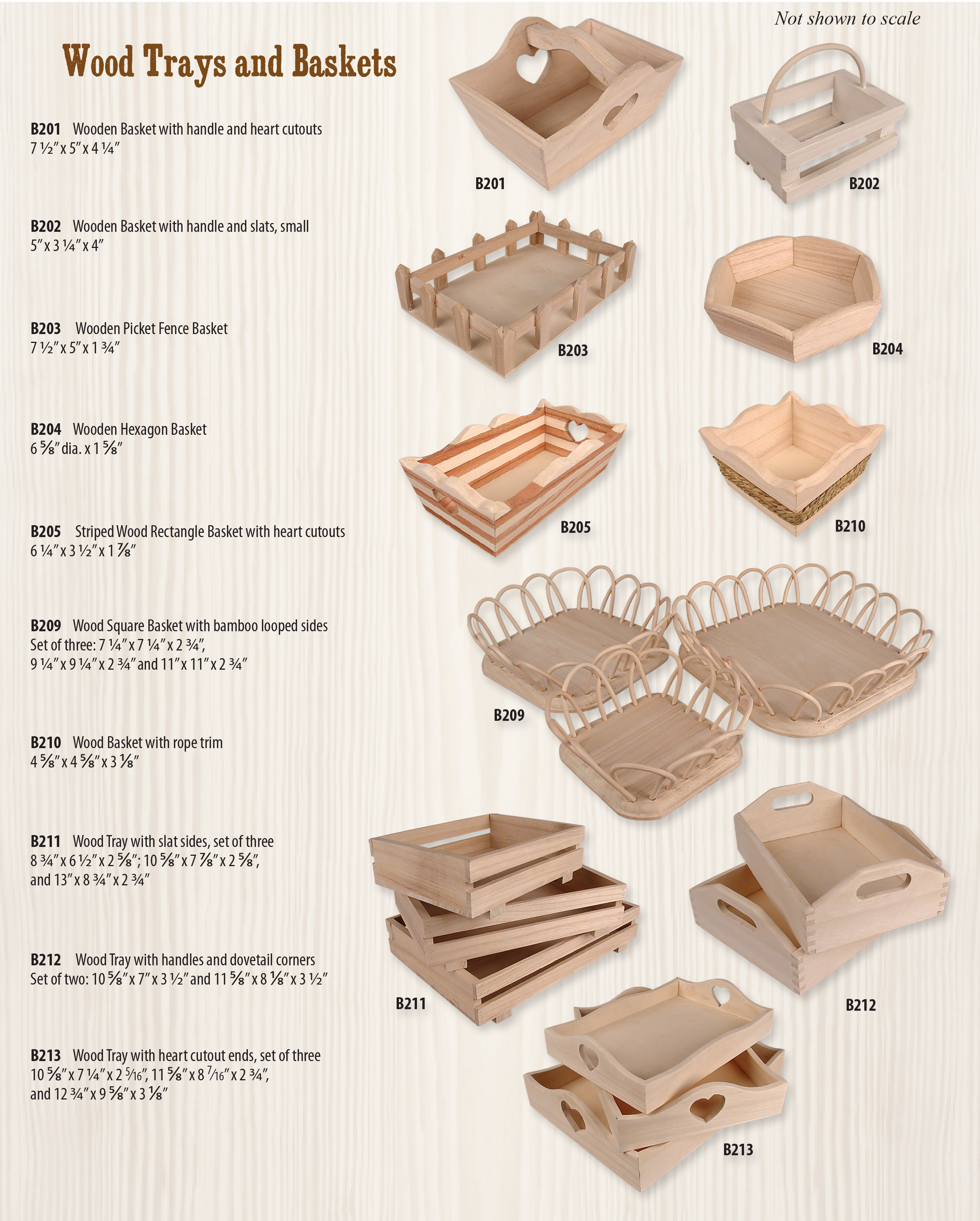 Wood Trays and Baskets Ad